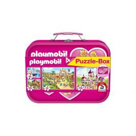 Puzzlekoffer 2 x 60 + 2 x 100 Teile Playmobil, pink