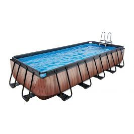 Frame Pool 5,4x2,5x1m, Holz Optik